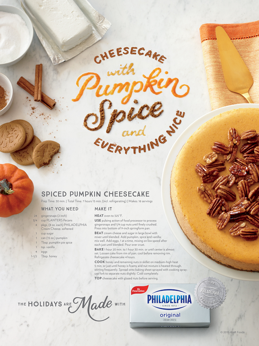 Ads: Philadelphia Cream Cheese, Pumpkin Spice