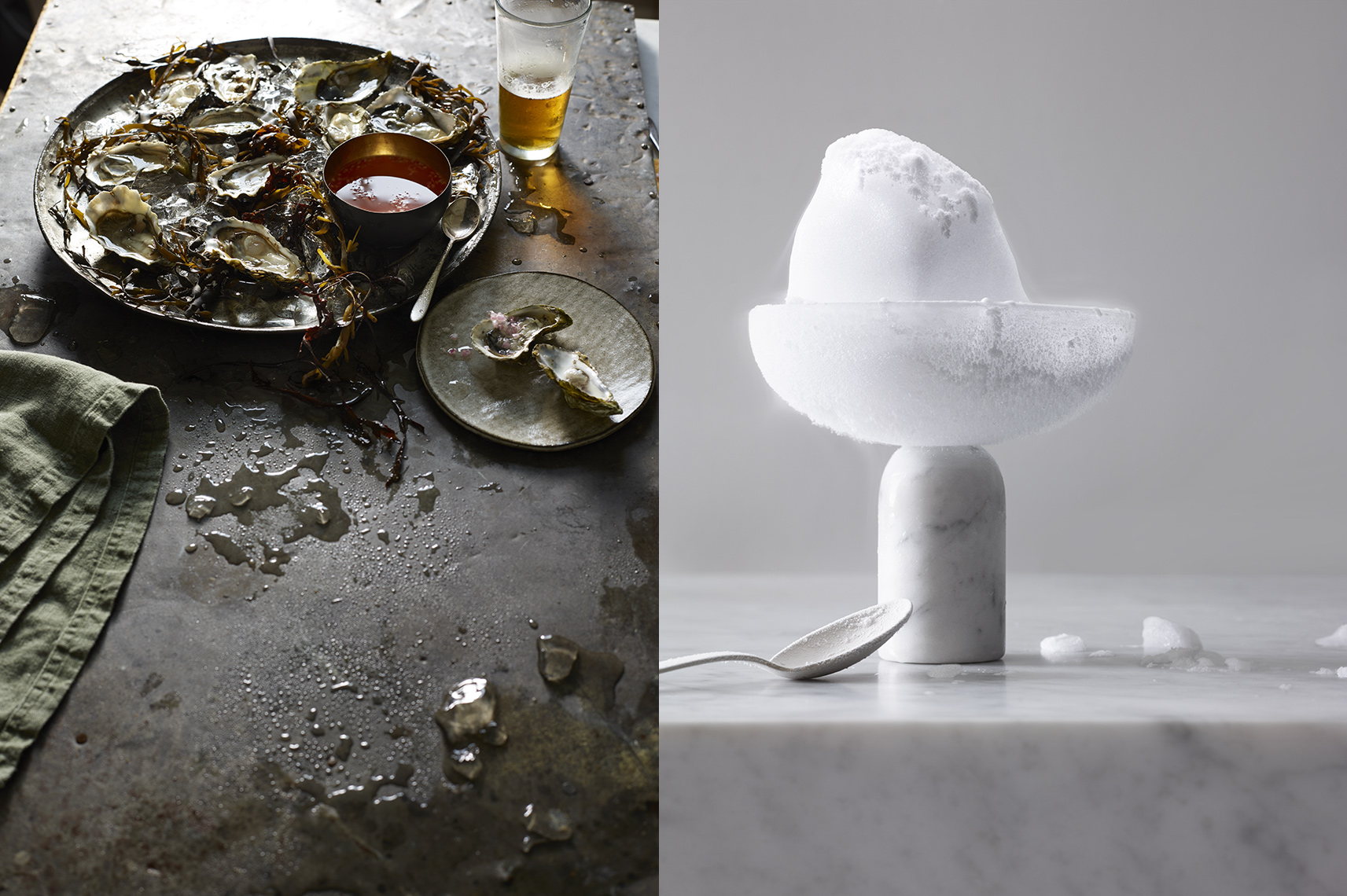 New Work: Seafood and Ice