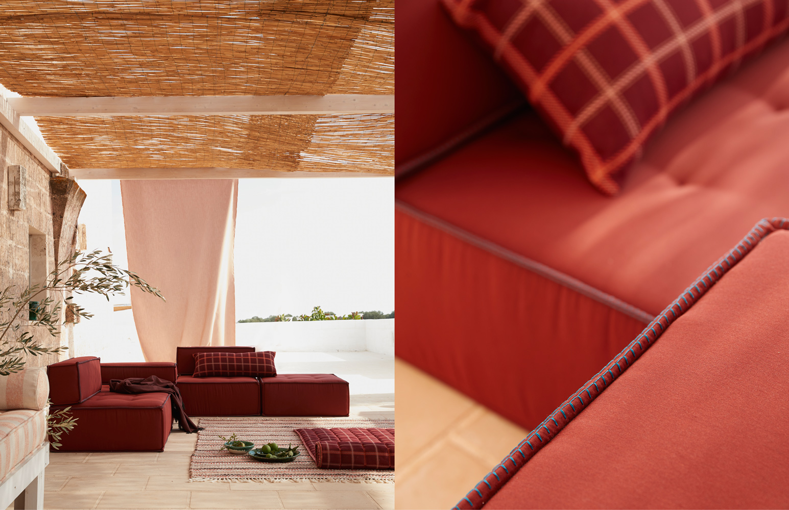 Sunbrella Italy: Red Couch