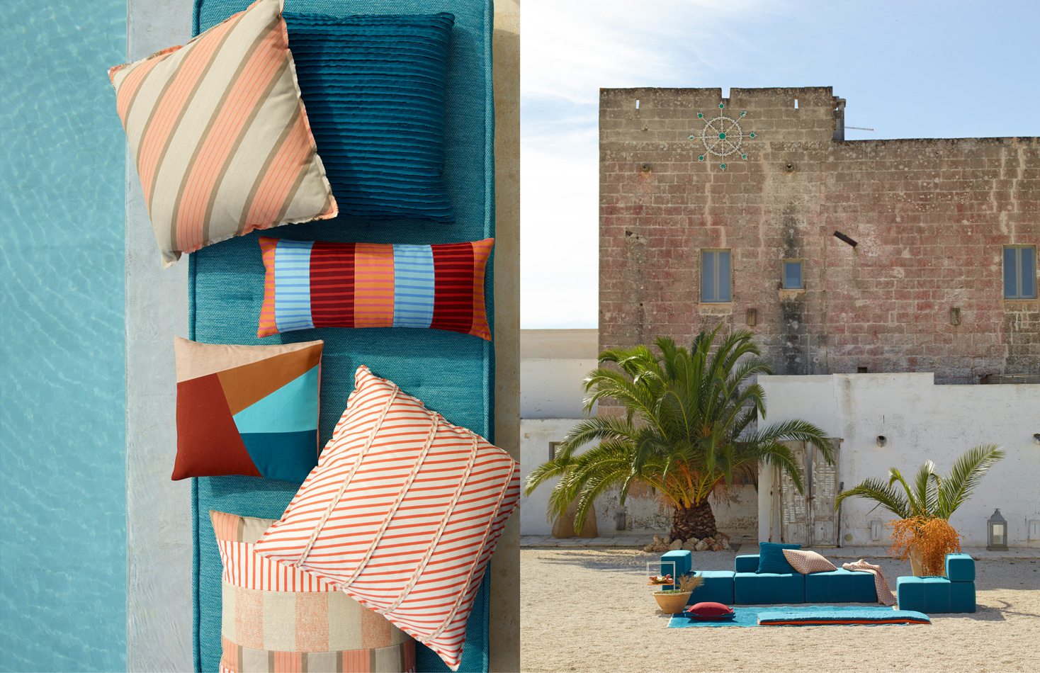 Sunbrella Italy: Pool Pillows and Outdoor Couch
